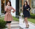 New Fashion Double Breasted Winter Women's Outerwear Jacket Long Trench Coat