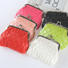 Fashion Handbag Hasp PU Leather Wallet Cute Small Change Coin Bag Solid 9*7cm