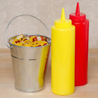 8oz Squeezy Sauce Bottles Plastic Fiexible Bottle Cafe Condiment Ketchup Mustard