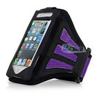 Multi-colored Armband Running Sport Case GYM Jog Cover For iPhone4 5 5s 6 6plus