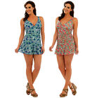 Ladies Swimsuit with Attached Skirt and Tummy Control  ~ UK 10 - 22