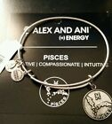 CHEAP! Alex and Ani Pisces Zodiac Expandable Bangle Bracelet NEW Style STAMPED