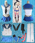 Kantai Collection Destroyer Shimakaze Cosplay Costume Full Set New Free Shipping