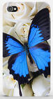 Cover iPhone 4 4S 5 5S / Galaxy S3 S4 S5 - FARFALLA BUTTERFLY BLU - 582 3DO1WE4G