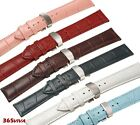 12~24mm Leather Cowhide Deployant Clasp Stainless Steel Buckle Clasp Watch Strap