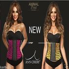 Ann Chery Sport LATEX Waist Cinchers Gridles Trainer Corset Animal 2024 S-3XL