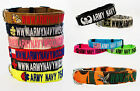 Glow-in-the-Dark Personalized Military Dog Collars & Leashes