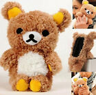 FD1957 Rilakkuma San-X Relax Bear Plush Case Cover For Apple Mobile Phone 1pc