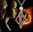 Hot Hunger Games Style Bow And Arrow Necklace Pendant Chain Silver Bronze Gift