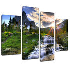 MSC155 Hillside Water Falls Canvas Wall Art Multi Panel Split Picture Print