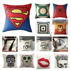 Marvel Heroes Car Bed Throw Pillow Case Linen Cotton Skull Printed Cushion Cover