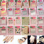 Manicure 3D Design Acrylic Nail Art Tips Polish Stickers Colorful Nail Decals