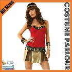 Womens Egyptian Cleopatra Princess Queen Of The Nile Warrior Fancy Dress Costume