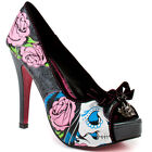 Iron Fist Sugar Witch Peep Toe Platform - Charcoal/Black