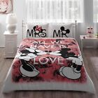 Disney Mickey Mouse Minnie Duvet Cover QUEEN Size and Fitted Sheet + Pillow Case