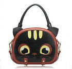 Synthetic Leather handbag Messenger Bag shoulder bag Stylish cute cat
