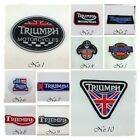 TRIUMPH Embroidered Sew Iron On Patch Motorcycles Mortor Sport Racing Logo Badge