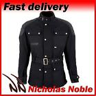 SPADA STAFFY WAX BLACK WATERPROOF CE ARMOURED CLASSIC STYLE MOTORCYCLE JACKET