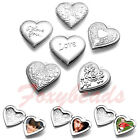 LOVE YOU Flower Carved Heart Friend Photo Picture Frame Locket Pendant DIY Gift