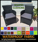 LARGE WATERPROOF FABRIC CHAIR CUSHIONS ARMCHAIR SEAT PADS GARDEN FURNITURE PIPED