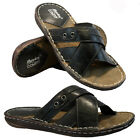 MENS FAUX LEATHER SANDALS SUMMER BEACH WALKING COMFORT FLIP FLOP MULES SHOE SIZE