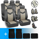Synthetic Leather Car Seat Covers w. Carpet Floor Mats