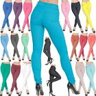 Ladies Womens SKinny Fit Coloured Jeggings Stretchy Jeans Trousers Summer 8-26