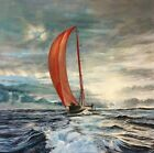 'The Red Wing' yacht racing painting by Julia Pankhurst various print/canvas szs