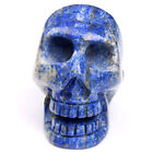 Natural Lapis Lazuli Blood Stone Carved Crystal Skull Crystal Healing Crafts