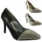 NEW WOMENS LADIES HIGH STILETTO HEEL PARTY NIGHT OUT COURT SHOES HEELS SIZE 3-8
