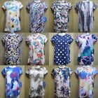 Simply Vera Wang Petites Watercolor Printed Tee Crew Top Ladies Sz PXS PS PM New