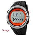 Men Lady Heart Rate Monitor Pulse Pedometer Calories Counter Fitness Sport Watch