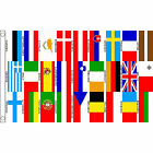 World Cup European Country Bunting & Flags 5 x 3 FT - Large Flag EU UK Austria