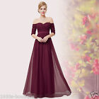 Long Maxi Evening Bridesmaid Formal Party Prom Dress Gown Size 8 -18 UK