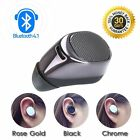 Compact Mini Wireless Bluetooth STEREO In-Ear Earphone Headphone Headset Black
