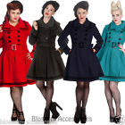 RKP30 Hell Bunny Millie Trench Coat Military Winter Steampunk Nautical Jacket