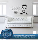 PAUL WALKER FAST AND FURIOUS MOVIE QUOTE STICKER WALL ART VARIOUS COLOURS
