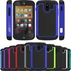 Armatus Gear HexGrid Hybrid Armor Case Duo Layer Phone Cover for ZTE Compel Z830