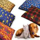 Small Cat / Dog Pet Bed Pillow Washable & Zipped / cover or filled Removable