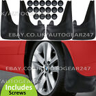 Black Blank Rubber Car Wheel Arch Universal Mud Flaps Splash Guards With Fixings
