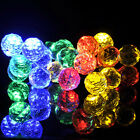 US Solar Powered Fairy String Light 20 LED Frosted Spheres Garden Party Outdoor
