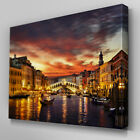 C385 Gondola Ride Venice Night Wall Art Ready to Hang Picture Print