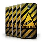 STUFF4 Phone Case/Back Cover for HTC Desire 620G /Hazard Warning Signs
