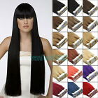 """New 24""""PU Seamless Skin Tape In Remy Human Hair Extensions Straight"""