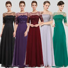 Ever Pretty Elegant Lace Sleeved Maxi Long Party Formal Prom Dresses 08459