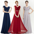 Women's Short Sleeve Maxi Prom Long Party Evening Formal Prom  Dress Gown 09989