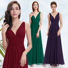 Sexy V-neck A-line Long Bridesmaid Evening Party Prom Formal Gown Dresses 09016