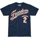 7.62 DESIGN 2ND AMENDMENT FREEDOM T-SHIRT MILITARY PATRIOTIC MENS TOP NAVY BLUE