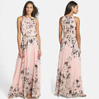 Women Ladies Summer Boho Long Maxi Dress Chiffon Bohemia Beach Party Dress Hot