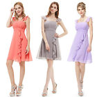 US Women's Short Bridesmaid Cocktail Party Ball Gown Formal Prom Dress 03337